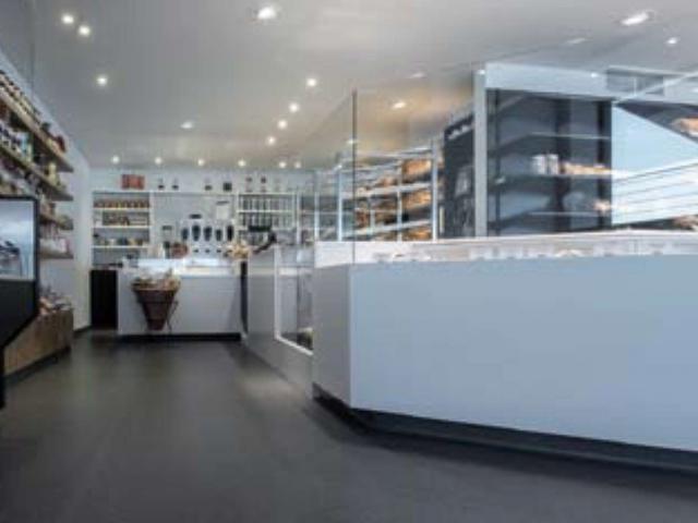 Devafloor: sol coulé en acrylate à la boulangerie Copain & Co Zonhoven